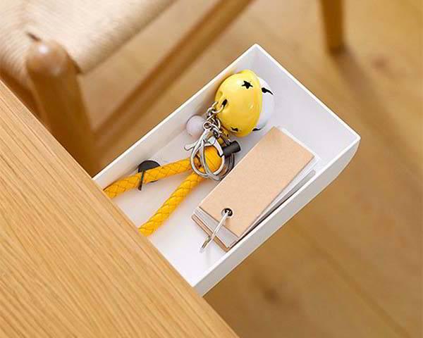 Handmade Under Desk Drawer Keeps Your Desktop Uncluttered