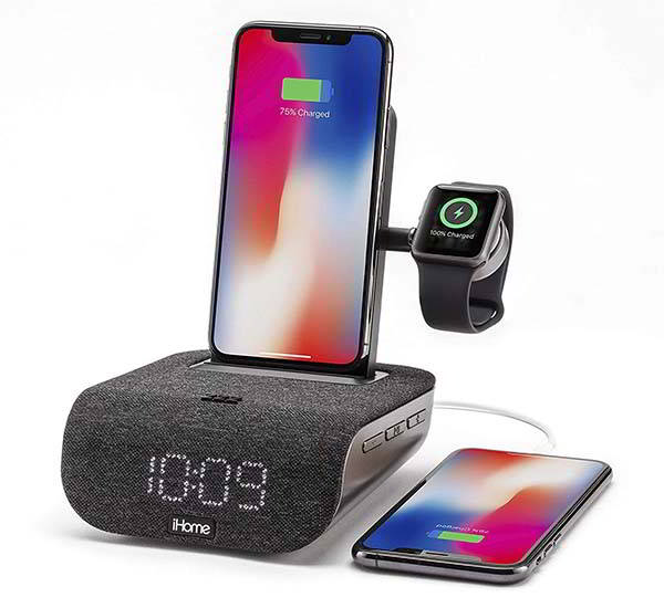iHome Timebase Pro+ Bluetooth Alarm Clock with Charging Dock