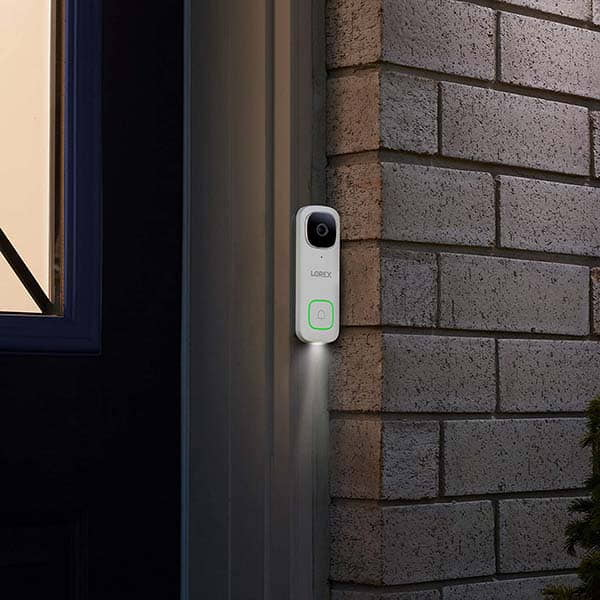 Lorex 2K Video Doorbell with Person Detection and Color Night Vision