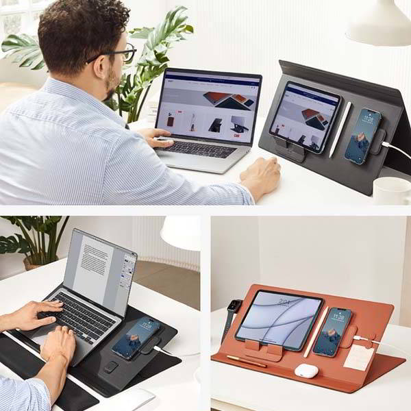 MOFT Smart Desk Mat Serves as Laptop Stand, Wireless Charger and More