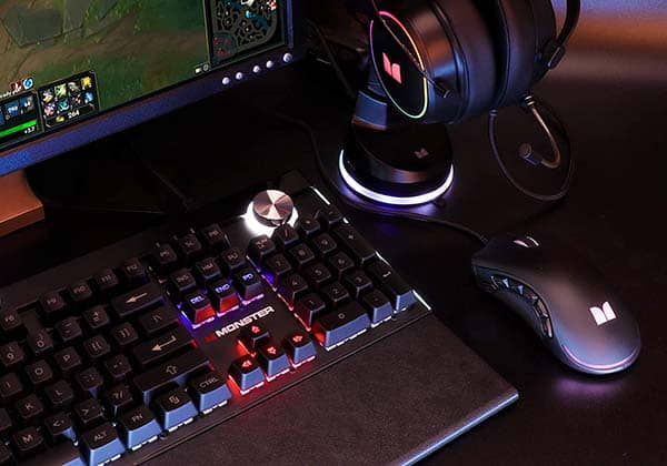 Monster Alpha 5.0 RGB Mechanical Gaming Keyboard with Magnetic Palm Rest