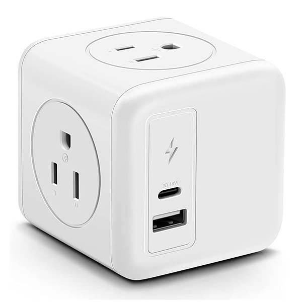Mscien USB-C Outlet Extender with 18W PD