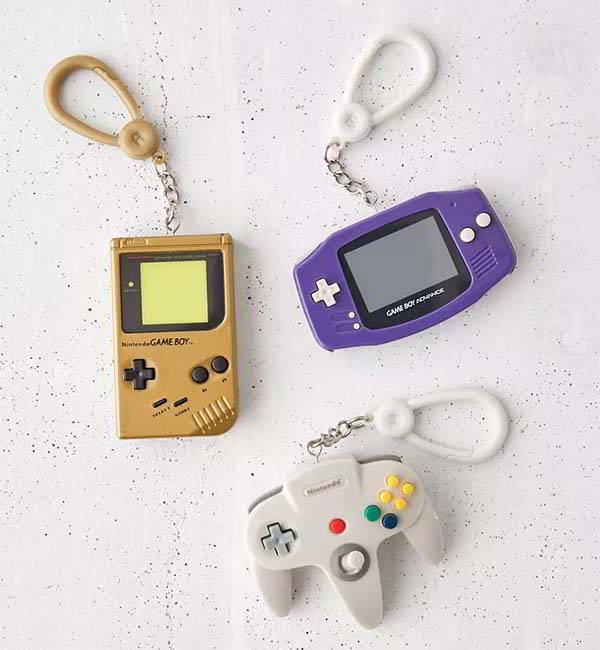 Nintendo Game Console Keychains