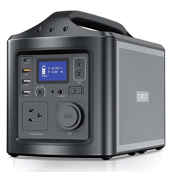 Orico 300W Portable Power Station with All Ports You Need for Camping