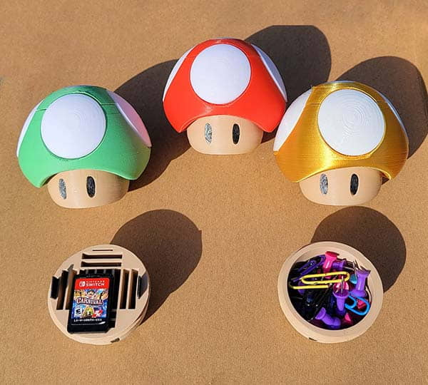 The Nintendo Switch Game Card Holder Shaped as Mushroom in Super Mario Bros