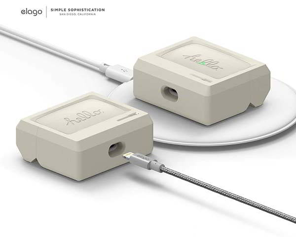 Elago AW3 Airpods Pro Case Inspired by Macintosh 128K