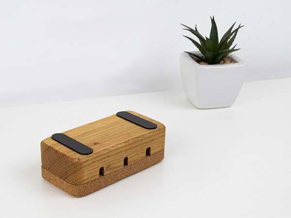 Handmade Wooden Cable Oragnizer with Micro Suction Pads