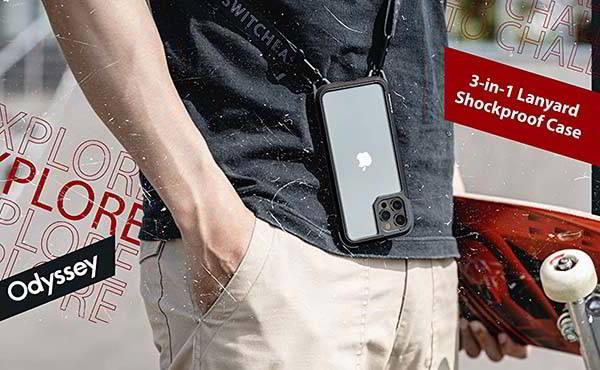 SwitchEasy Odyssey iPhone 13 Case with Crossbody Lanyard
