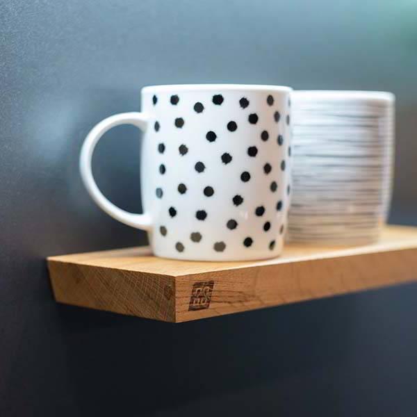 W Oblique Handmade Magnetic Wooden Shelf
