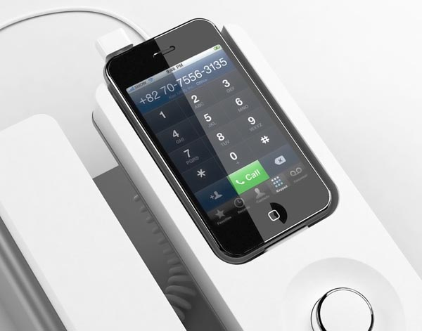 Desk Phone Dock Turns iPhone into Wired Telephone | Gadgetsin