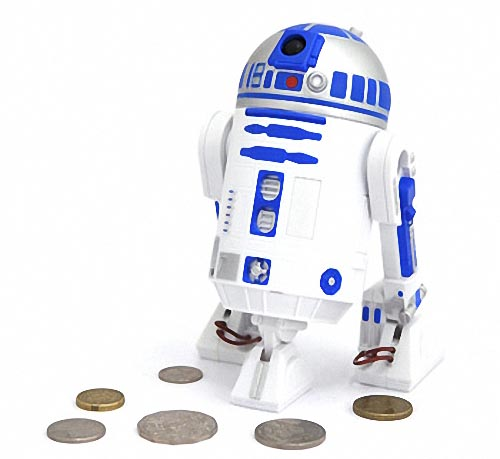 Star Wars R2-D2 Talking Money Bank - Gadgetsin