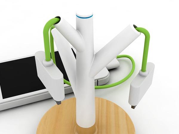 Giving Tree Charging Station Design Concept Gadgetsin