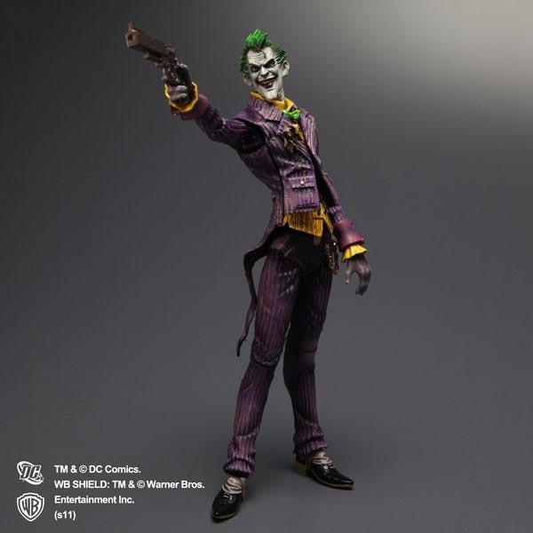 Play Arts Kai Arkham Asylum Joker Action Figure - Gadgetsin