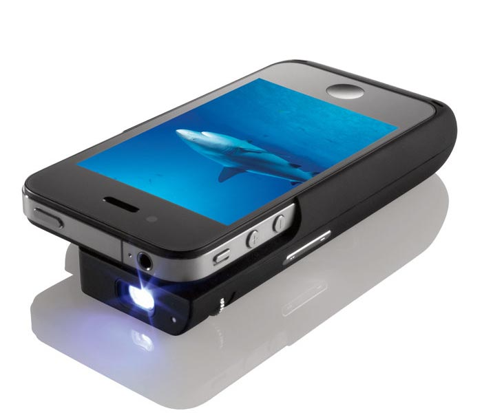 iphone 5 projector iphone 4 battery with pocket projector gadgetsin 11028