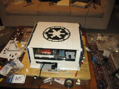 star wars themed lego computer case gadgetsin