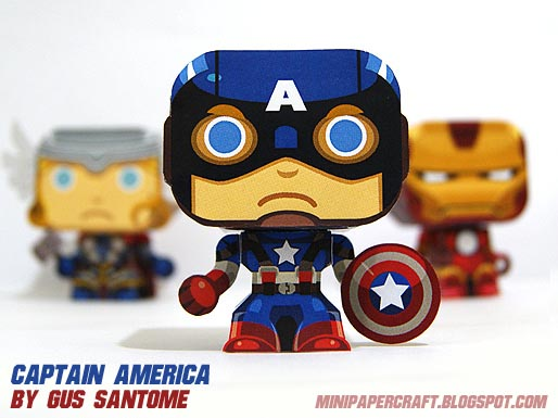 The Avengers Mini Paper Crafts Gadgetsin