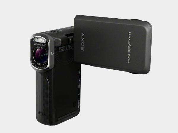 sony waterproof video camera sony waterproof hd pocket camcorder gadgetsin 276
