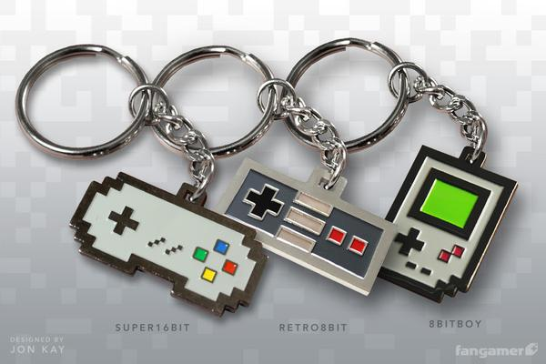 Retro Game Console Themed Keychains Gadgetsin