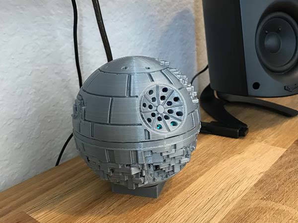 3d Printed Star Wars Death Star Echo Dot Holder Gadgetsin