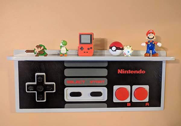 Handmade Nintendo NES Controller Inspired Wall Display ...