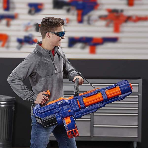 Nerf Elite Titan Cs 50 Fully Motorized Toy Blaster Gadgetsin