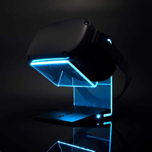 Aura VR Headset Charging Stand with Changeable LED Light
